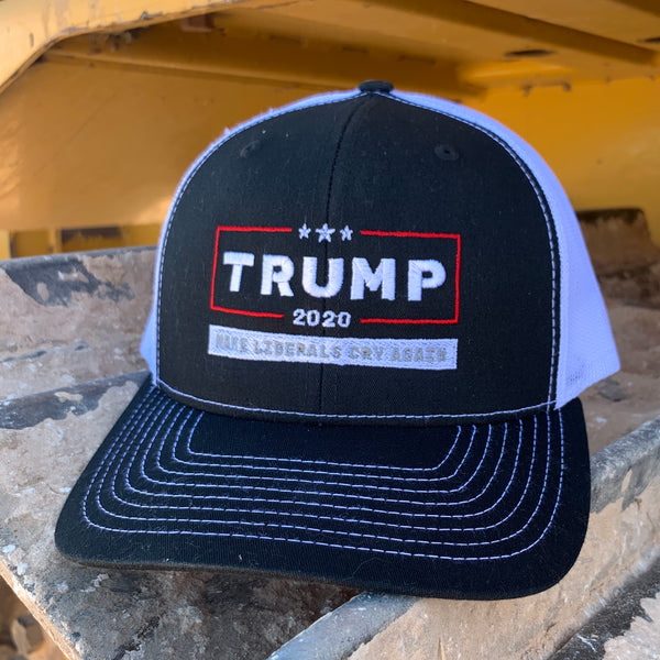 TRUMP 2020 MAKE LIBERALS CRY AGAIN HAT (RED LINE)