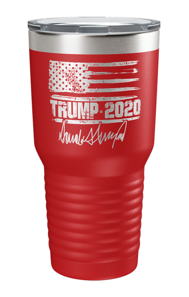 Trump 2020 distressed flag tumbler