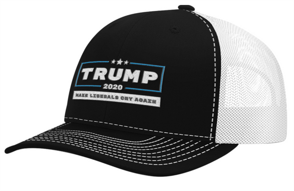 TRUMP 2020 MAKE LIBERALS CRY AGAIN HAT (BLUE LINE)