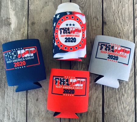 Pack of 4 TRUMP 2020 Koozies
