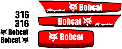 Bobcat 316 Decal Set
