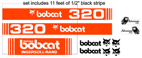 Bobcat 320 Decal Set