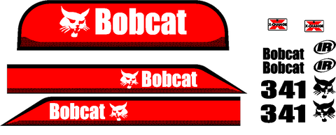 Bobcat 341D Decal Set