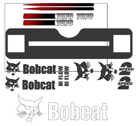 Bobcat T870 Decal Set