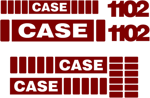 Case 1102 Decal Set