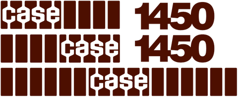 Case 1450 Decal Set