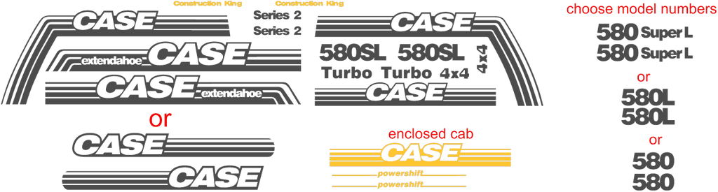 Case 580L II Decal Set – All Things Equipment