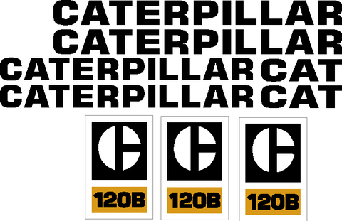 Caterpillar 120B Decal Set