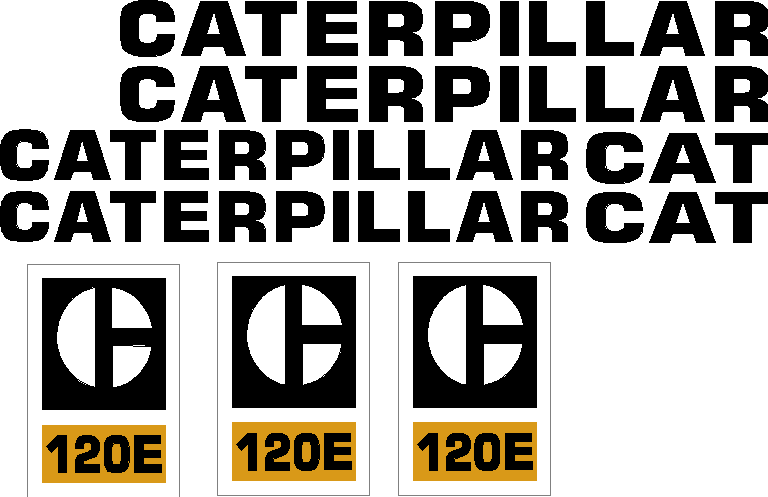 Caterpillar 120E Decal Set