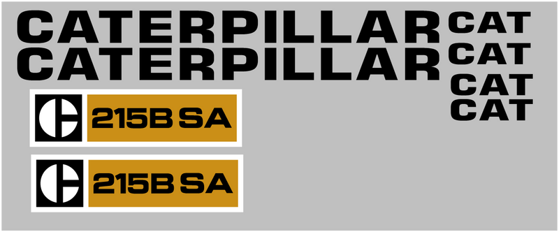 Caterpillar 215B SA Decal Set