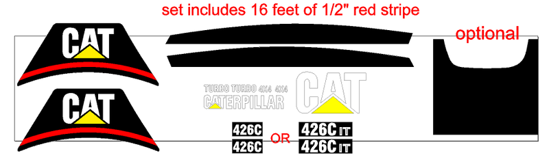Caterpillar 426C IT Decal Set