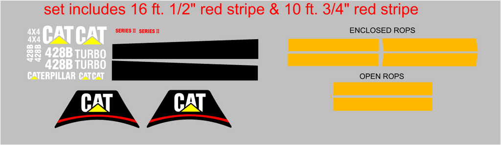 Caterpillar 428B Decal Set