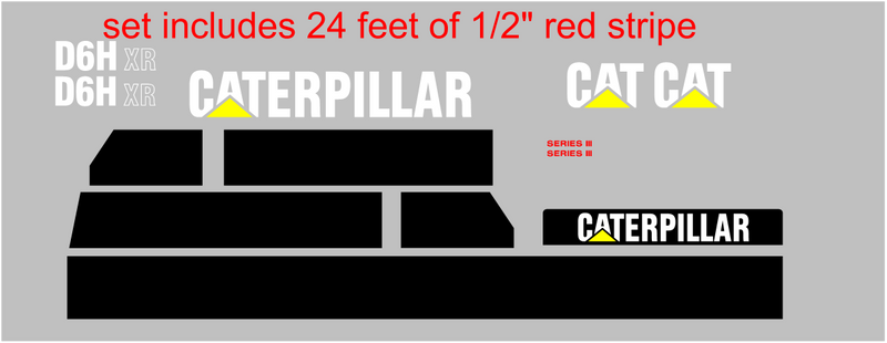 Caterpillar D6H XR II Decal Set