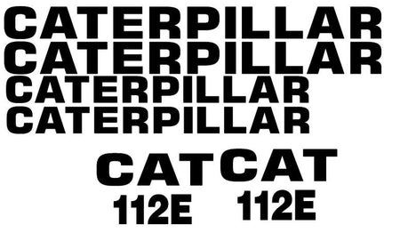 Caterpillar 112E Decal Set
