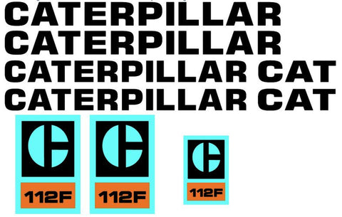 Caterpillar 112F Decal Set