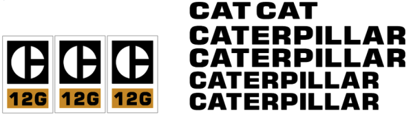 Caterpillar 12G Decal Set