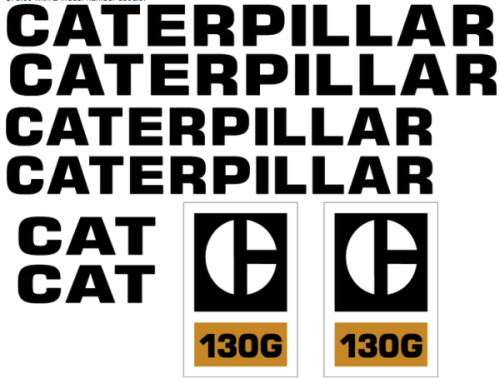 Caterpillar 130G Decal Set