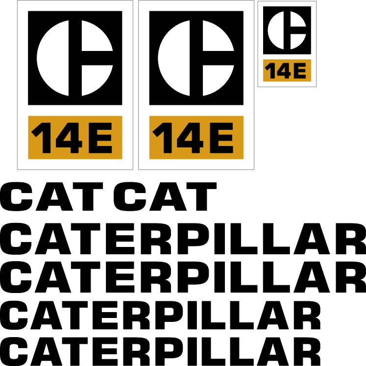 Caterpillar 14E Decal Set