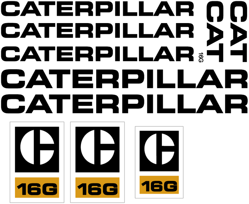 Caterpillar 16G Decal Set