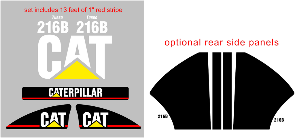 Caterpillar 216B Decal Set