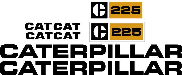 Caterpillar 225 Decal Set