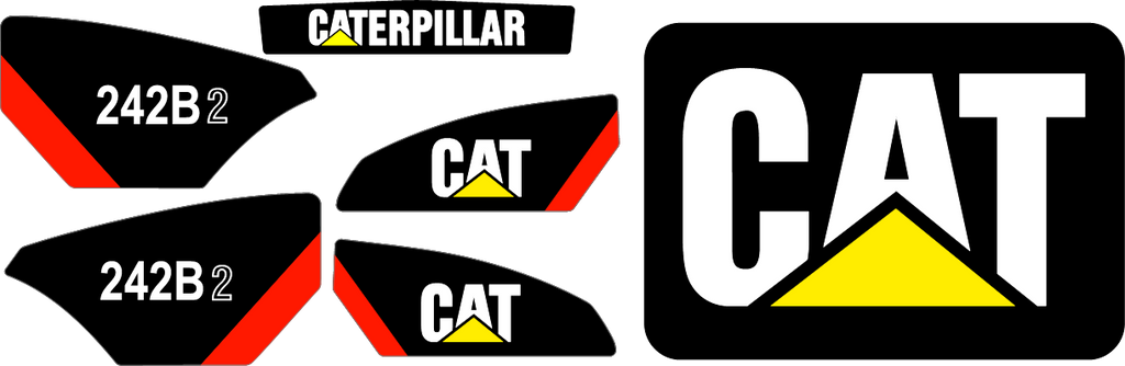 Caterpillar 242B II Decal Set