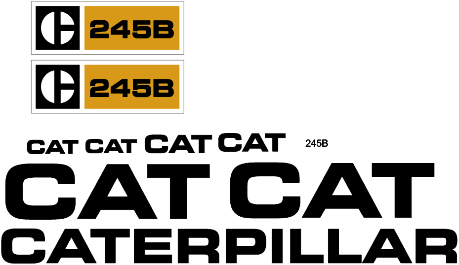 Caterpillar 245B Decal Set