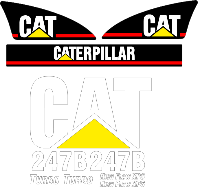Caterpillar 247B Decal Set