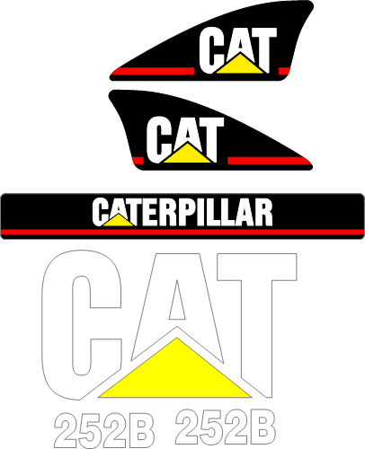 Caterpillar 252B Decal Set