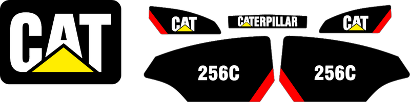 Caterpillar 256C Decal Set