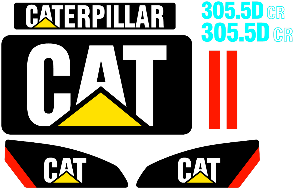 Caterpillar 305.5D CR Decal Set