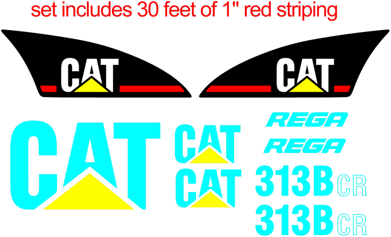 Caterpillar 313B CR Decal Set