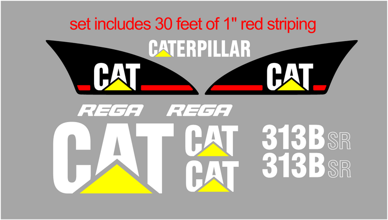 Caterpillar 313BSR Decal Set