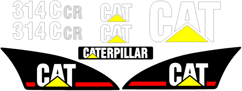 Caterpillar 314C CR Decal Set