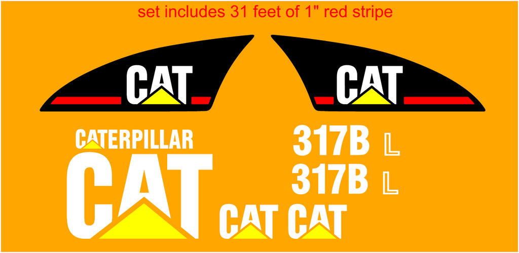 Caterpillar 317BL Decal Set