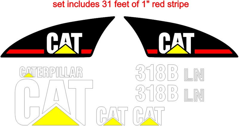 Caterpillar 318BLN Decal Set