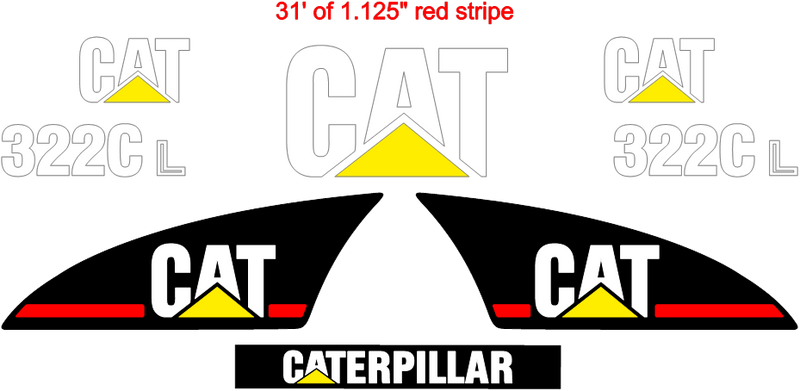 Caterpillar 322CL Decal Set