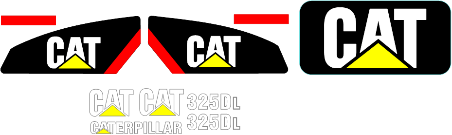 Caterpillar 325DL Decal Set