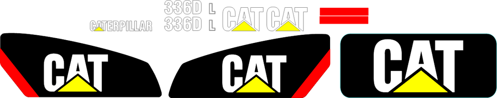 Caterpillar 336DL Decal Set