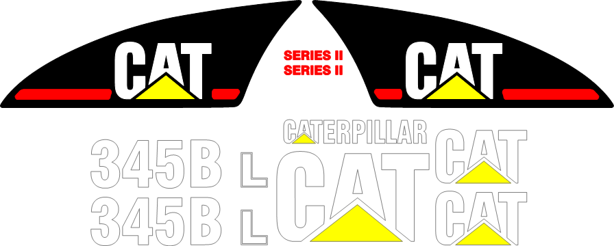 Caterpillar 345BL II Decal Set