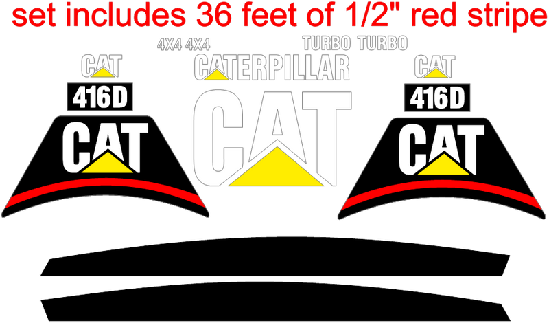 Caterpillar 416D Decal Set