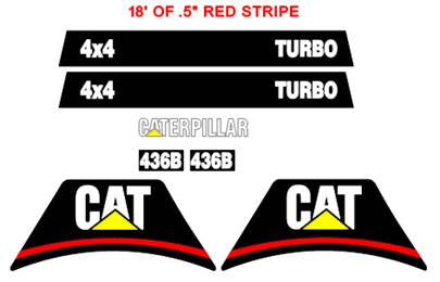 Caterpillar 436B Decal Set