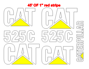 Caterpillar 525C Decal Set