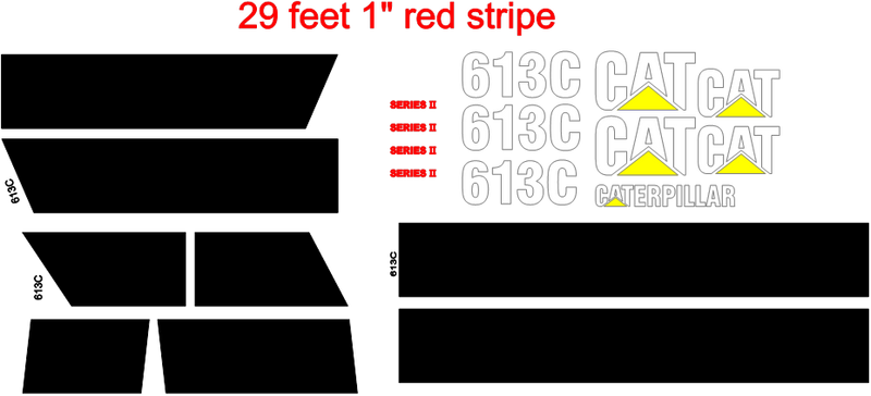 Caterpillar 613C Decal Set