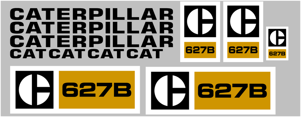 Caterpillar 627B Decal Set