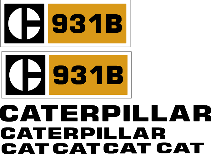 Caterpillar 931B Decal Set