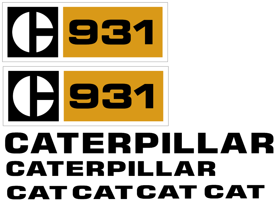 Caterpillar 931 Decal Set