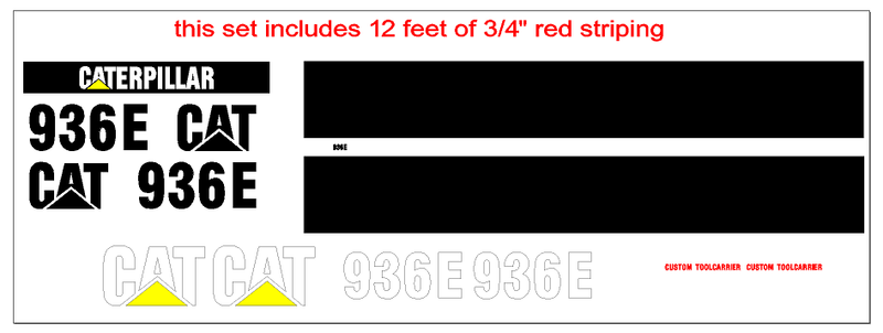Caterpillar 936E Decal Set