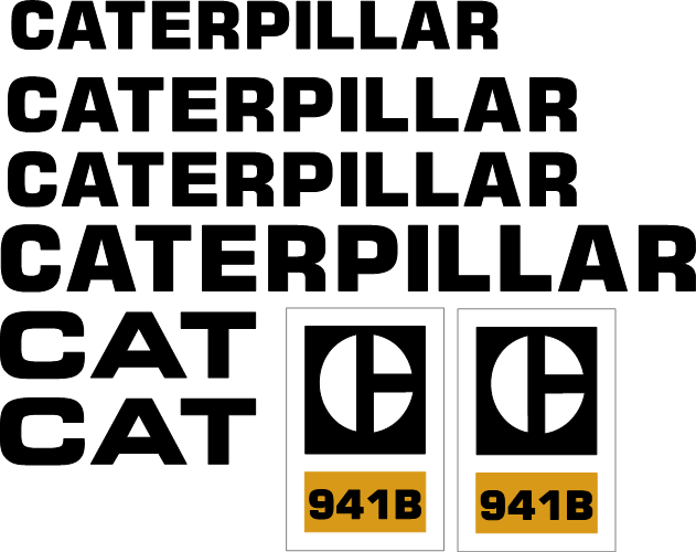 Caterpillar 941B Decal Set