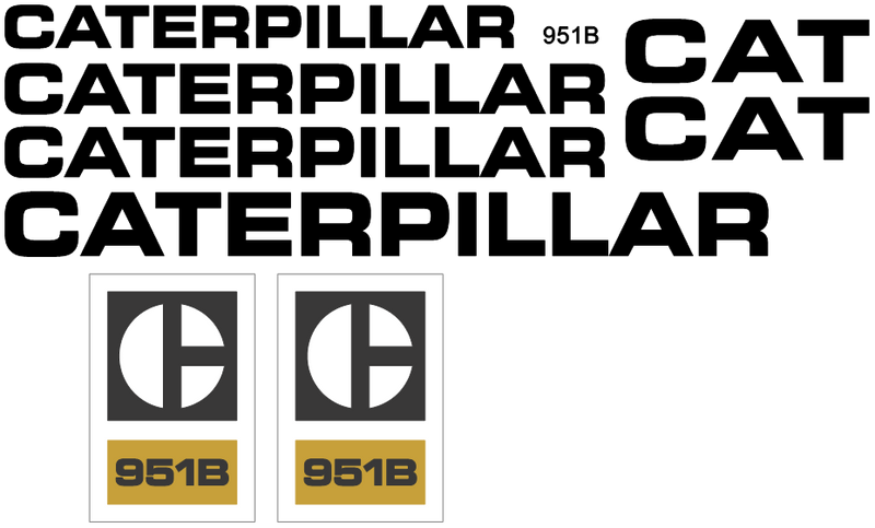 Caterpillar 951B Decal Set
